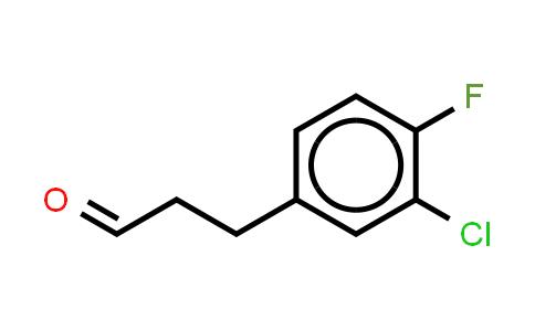 1057671-07-4 | Benzenepropanal, 3-chloro-4-fluoro- (or 3-(3-Chloro-4-fluorophenyl)propionaldehyde )