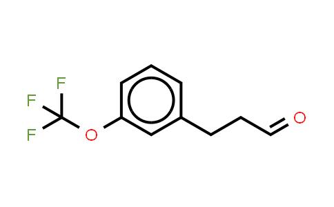 1057671-08-5 | Benzenepropanal, 3-(trifluoromethoxy)- (or 3-(3-Trifluoromethoxyphenyl)propionaldehyde)