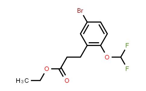 1057674-78-8 | Ethyl 3-[5-bromo-2-(difluoromethoxy)phenyl]propanoate