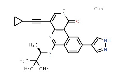1058128-72-5 | Benzo[c][1,6]naphthyridin-1(2H)-one, 4-(2-cyclopropylethynyl)-9-(1H-pyrazol-4-yl)-6-[[(1R)-1,2,2-trimethylpropyl]amino]-