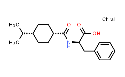 105816-06-6 | D-Phenylalanine, N-[[4-(1-methylethyl)cyclohexyl]carbonyl]-, cis-