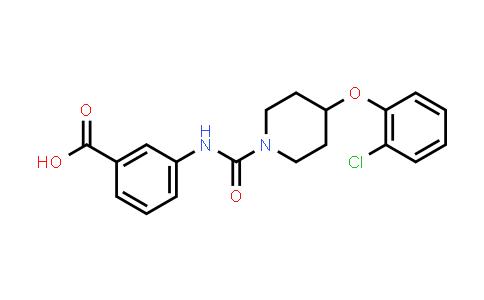 1058702-87-6   3-(4-(2-Chlorophenoxy)piperidine-1-carboxamido)benzoic acid