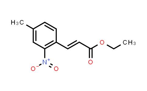 105910-05-2 | (E)-ethyl 3-(4-methyl-2-nitrophenyl)acrylate