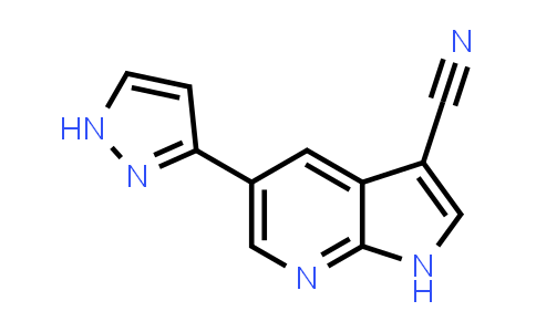 1059171-08-2 | 1H-Pyrrolo[2,3-b]pyridine-3-carbonitrile, 5-(1H-pyrazol-3-yl)-