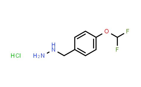 1059626-03-7   (4-(Difluoromethoxy)benzyl)hydrazine hydrochloride