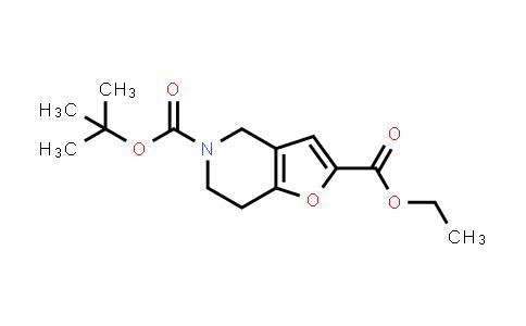 1060814-36-9 | 5-(tert-Butyl) 2-ethyl 6,7-dihydrofuro[3,2-c]pyridine-2,5(4H)-dicarboxylate
