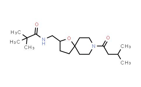 1061125-48-1 | N-((8-(3-methylbutanoyl)-1-oxa-8-azaspiro[4.5]decan-2-yl)methyl)pivalamide