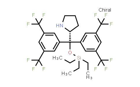 1061307-56-9   (2R)-2-[Bis[3,5-bis(trifluoromethyl)phenyl][(triethylsilyl)oxy]methyl]pyrrolidine