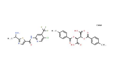 1095823-60-1 | Butanedioic acid, 2,3-bis[(4-methylbenzoyl)oxy]-, (2S,3S)-, compd. with 2-(1-aminoethyl)-N-[5-chloro-4-(trifluoromethyl)-2-pyridinyl]-5-thiazolecarboxamide (1:1)