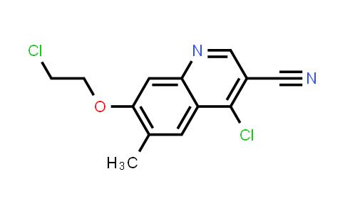 1096120-27-2   3-Quinolinecarbonitrile, 4-chloro-7-(2-chloroethoxy)-6-methyl-