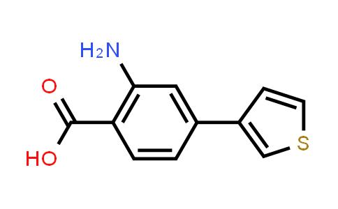 1096770-86-3 | 2-Amino-4-(thiophen-3-yl)benzoic acid