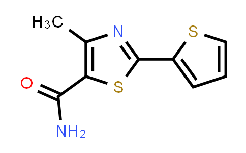 1097815-09-2 | 4-Methyl-2-(thiophen-2-yl)-1,3-thiazole-5-carboxamide