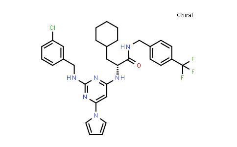 1098882-27-9 | Cyclohexanepropanamide, α-[[2-[[(3-chlorophenyl)methyl]amino]-6-(1H-pyrrol-1-yl)-4-pyrimidinyl]amino]-N-[[4-(trifluoromethyl)phenyl]methyl]-, (αR)-
