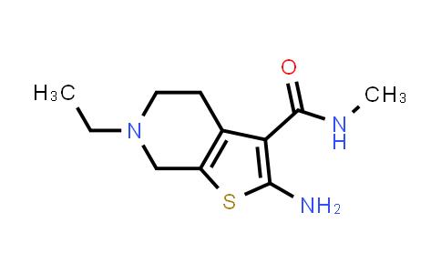 1099624-25-5 | 2-Amino-6-ethyl-N-methyl-4,5,6,7-tetrahydrothieno[2,3-c]pyridine-3-carboxamide