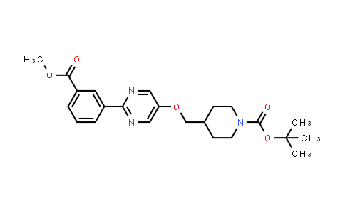 1100598-47-7 | tert-Butyl 4-(((2-(3-(methoxycarbonyl)phenyl)pyrimidin-5-yl)oxy)methyl)piperidine-1-carboxylate
