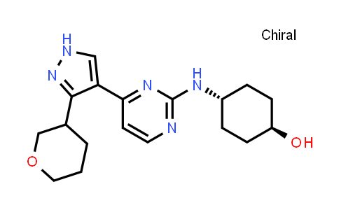 1100674-36-9 | Cyclohexanol, 4-[[4-[3-(tetrahydro-2H-pyran-3-yl)-1H-pyrazol-4-yl]-2-pyrimidinyl]amino]-, trans-