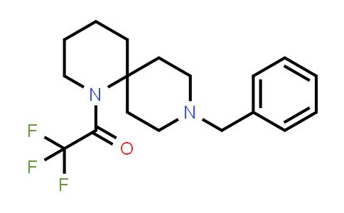 1100748-65-9   Ethanone, 2,2,2-trifluoro-1-[9-(phenylmethyl)-1,9-diazaspiro[5.5]undec-1-yl]-