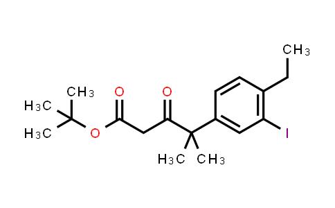 1256584-74-3 | tert-Butyl 4-(4-ethyl-3-iodophenyl)-4-methyl-3-oxopentanoate