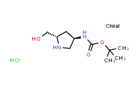 MC515499 | 1264243-44-8 | tert-Butyl ((3R,5S)-5-(hydroxymethyl)pyrrolidin-3-yl)carbamate hydrochloride