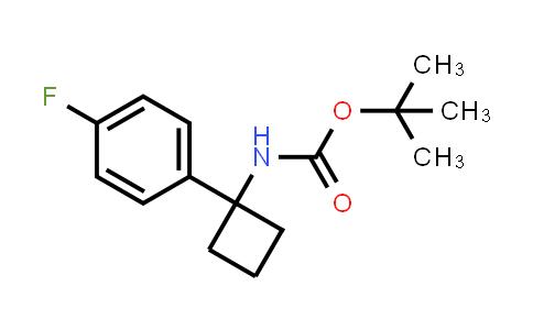 1286275-69-1 | tert-Butyl (1-(4-fluorophenyl)cyclobutyl)carbamate