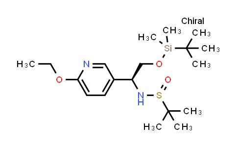 2177255-07-9 | N-((S)-2-((tert-Butyldimethylsilyl)oxy)-1-(6-ethoxypyridin-3-yl)ethyl)-2-methylpropane-2-sulfinamide