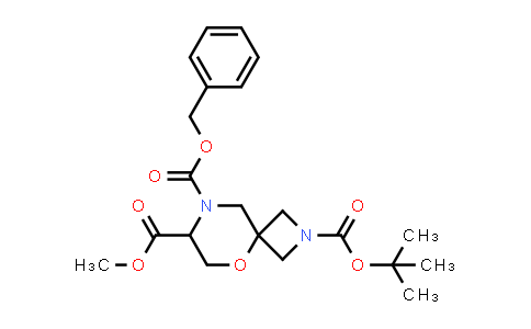 2177258-50-1 | 8-Benzyl 2-tert-butyl 7-methyl 5-oxa-2,8-diazaspiro[3.5]nonane-2,7,8-tricarboxylate