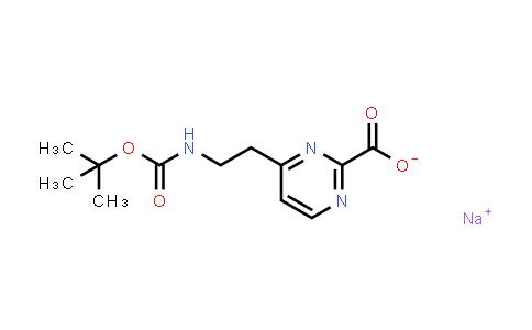2177258-76-1 | Sodium 4-(2-((tert-butoxycarbonyl)amino)ethyl)pyrimidine-2-carboxylate