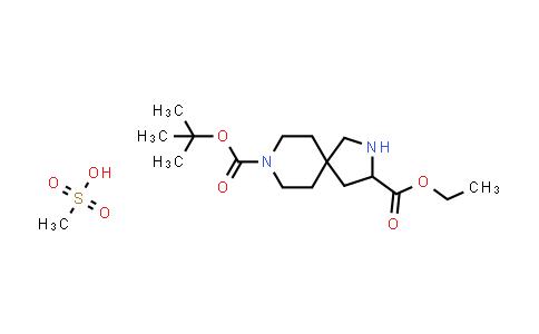 2177258-86-3 | 8-tert-Butyl 3-ethyl 2,8-diazaspiro[4.5]decane-3,8-dicarboxylate methanesulfonate