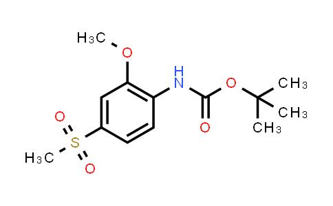 2177258-93-2 | tert-Butyl (2-methoxy-4-(methylsulfonyl)phenyl)carbamate