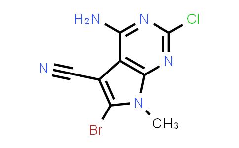 2177263-53-3 | 4-Amino-6-bromo-2-chloro-7-methyl-7H-pyrrolo[2,3-d]pyrimidine-5-carbonitrile