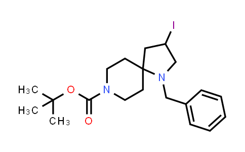 2177264-11-6   tert-Butyl 1-benzyl-3-iodo-1,8-diazaspiro[4.5]decane-8-carboxylate