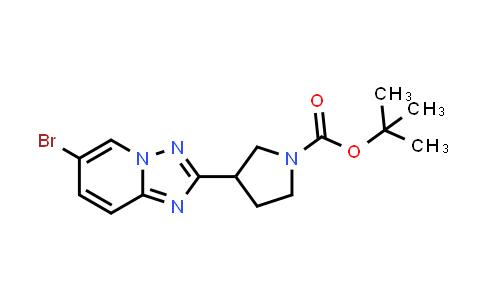 2177264-17-2 | tert-Butyl 3-(6-bromo-[1,2,4]triazolo[1,5-a]pyridin-2-yl)pyrrolidine-1-carboxylate