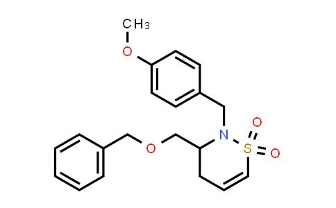 2177264-47-8   3-((Benzyloxy)methyl)-2-(4-methoxybenzyl)-3,4-dihydro-2H-1,2-thiazine 1,1-dioxide