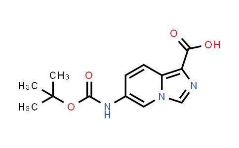 2177266-16-7 | 6-((tert-Butoxycarbonyl)amino)imidazo[1,5-a]pyridine-1-carboxylic acid