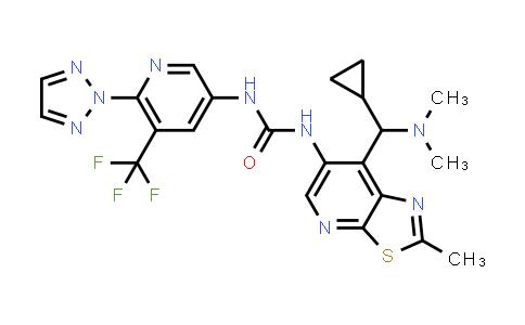 2178991-05-2 | 1-(6-(2H-1,2,3-Triazol-2-yl)-5-(trifluoromethyl)pyridin-3-yl)-3-(7-(cyclopropyl(dimethylamino)methyl)-2-methylthiazolo[5,4-b]pyridin-6-yl)urea