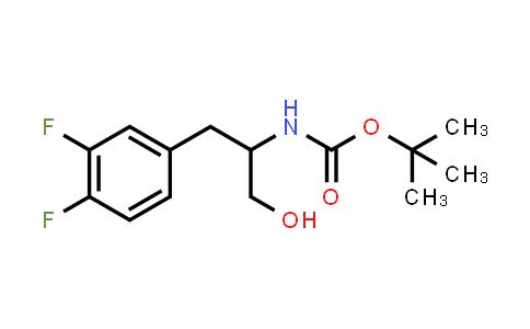 218450-19-2 | Carbamic acid, [2-(3,4-difluorophenyl)-1-(hydroxymethyl)ethyl]-, 1,1-dimethylethyl ester (9CI)