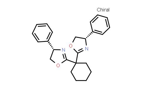 2185014-88-2   (4S,4'S)-2,2'-Cyclohexylidenebis[4,5-dihydro-4-phenyloxazole]