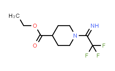 2185590-76-3 | Ethyl 1-(2,2,2-trifluoroethanimidoyl)piperidine-4-carboxylate