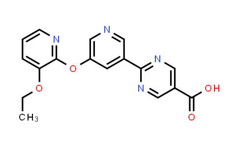 2186700-19-4 | 2-(5-((3-Ethoxypyridin-2-yl)oxy)pyridin-3-yl)pyrimidine-5-carboxylic acid