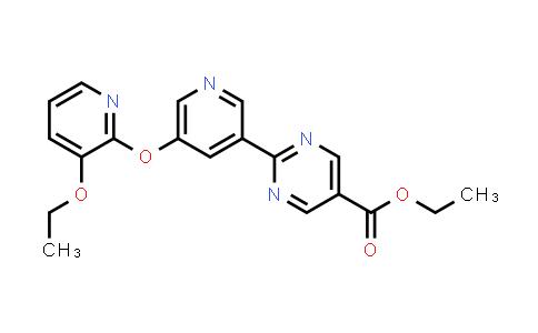 2186700-20-7 | Ethyl 2-(5-((3-ethoxypyridin-2-yl)oxy)pyridin-3-yl)pyrimidine-5-carboxylate