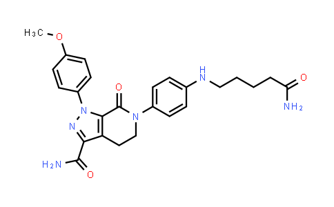 2187409-01-2 | 6-(4-((5-Amino-5-oxopentyl)amino)phenyl)-1-(4-methoxyphenyl)-7-oxo-4,5,6,7-tetrahydro-1H-pyrazolo[3,4-c]pyridine-3-carboxamide