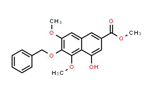 218961-10-5   2-Naphthalenecarboxylic acid, 4-hydroxy-5,7-dimethoxy-6-(phenylmethoxy)-, methyl ester