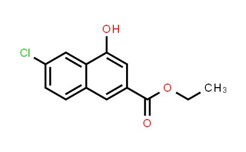 218961-11-6   2-Naphthalenecarboxylic acid, 6-chloro-4-hydroxy-, ethyl ester