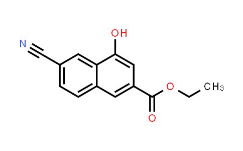 218961-12-7   2-Naphthalenecarboxylic acid, 6-cyano-4-hydroxy-, ethyl ester