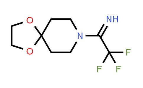 2191266-85-8 | 2,2,2-Trifluoro-1-(1,4-dioxa-8-azaspiro[4.5]decan-8-yl)ethan-1-imine