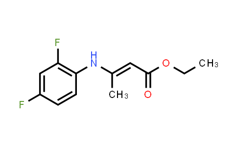 219140-13-3 | Ethyl 3-((2,4-difluorophenyl)amino)but-2-enoate