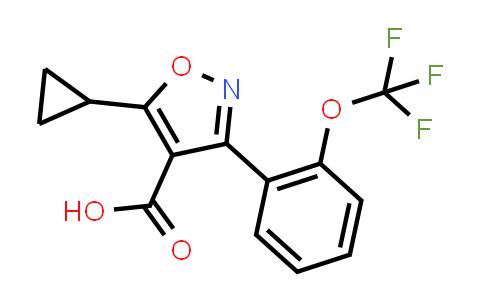 2191433-23-3   5-Cyclopropyl-3-(2-(trifluoromethoxy)phenyl)isoxazole-4-carboxylic acid
