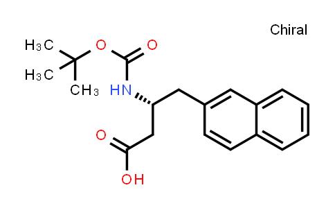 219297-10-6 | (R)-3-((tert-Butoxycarbonyl)amino)-4-(naphthalen-2-yl)butanoic acid