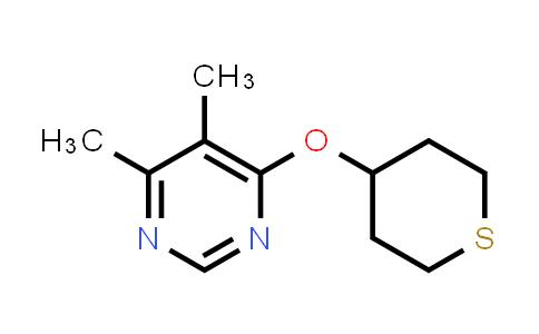 2197709-13-8 | 4,5-Dimethyl-6-(thian-4-yloxy)pyrimidine