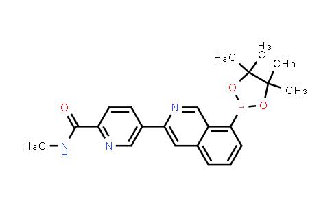 2197909-46-7 | N-Methyl-5-(8-(4,4,5,5-tetramethyl-1,3,2-dioxaborolan-2-yl)isoquinolin-3-yl)picolinamide